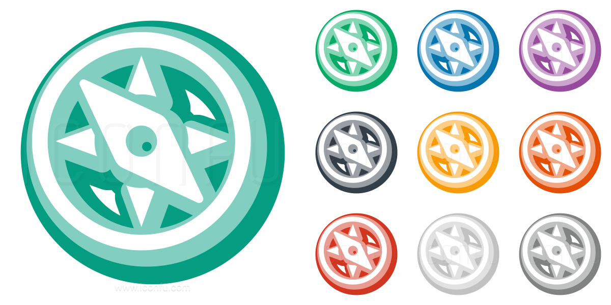 Compass Icon - Cute Style - Iconfu