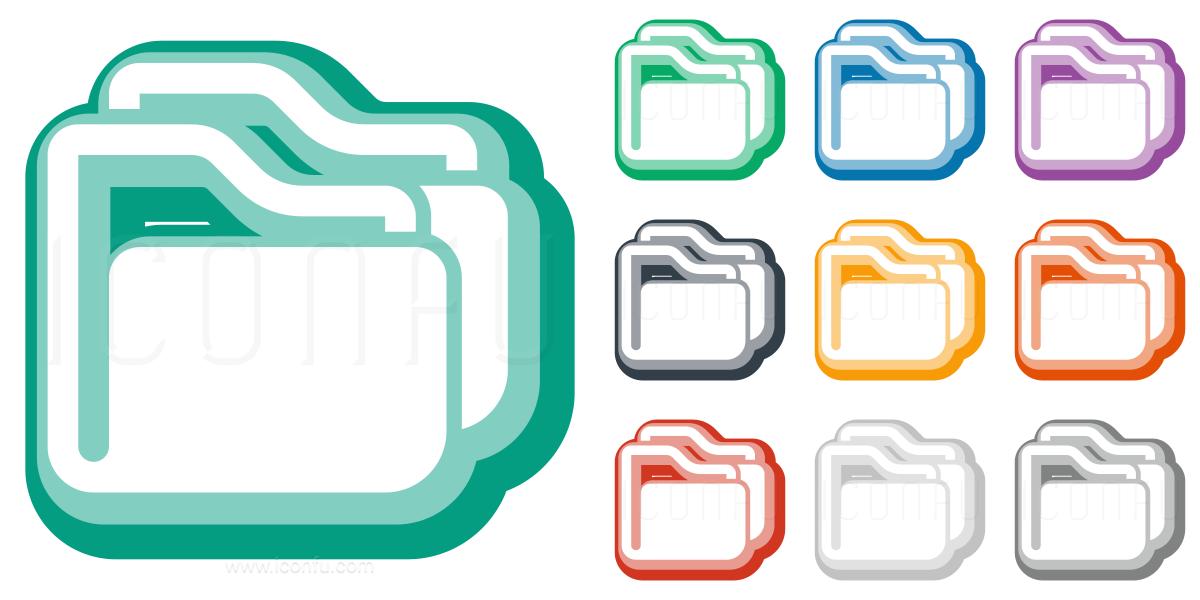 Folders Icon Cute Style Iconfu