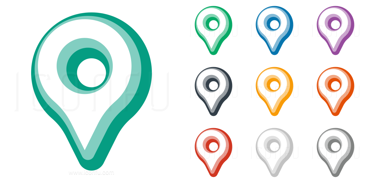 Map Pointer Icon Pin Icon Location Sign Mark Icon: Location Pin Icon