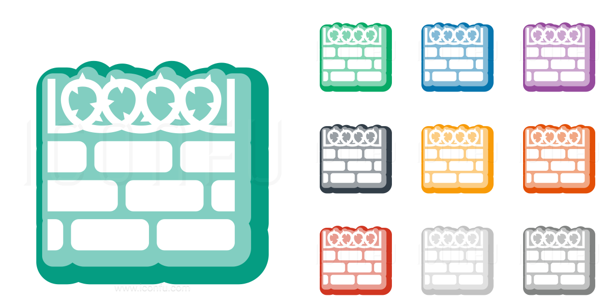 Wall Barbed Wire Icon - Cute Style - Iconfu