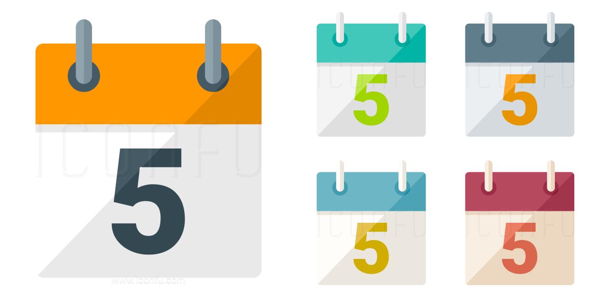 Calendar Days Icon.Calendar 5 Icon Paper Style Iconfu