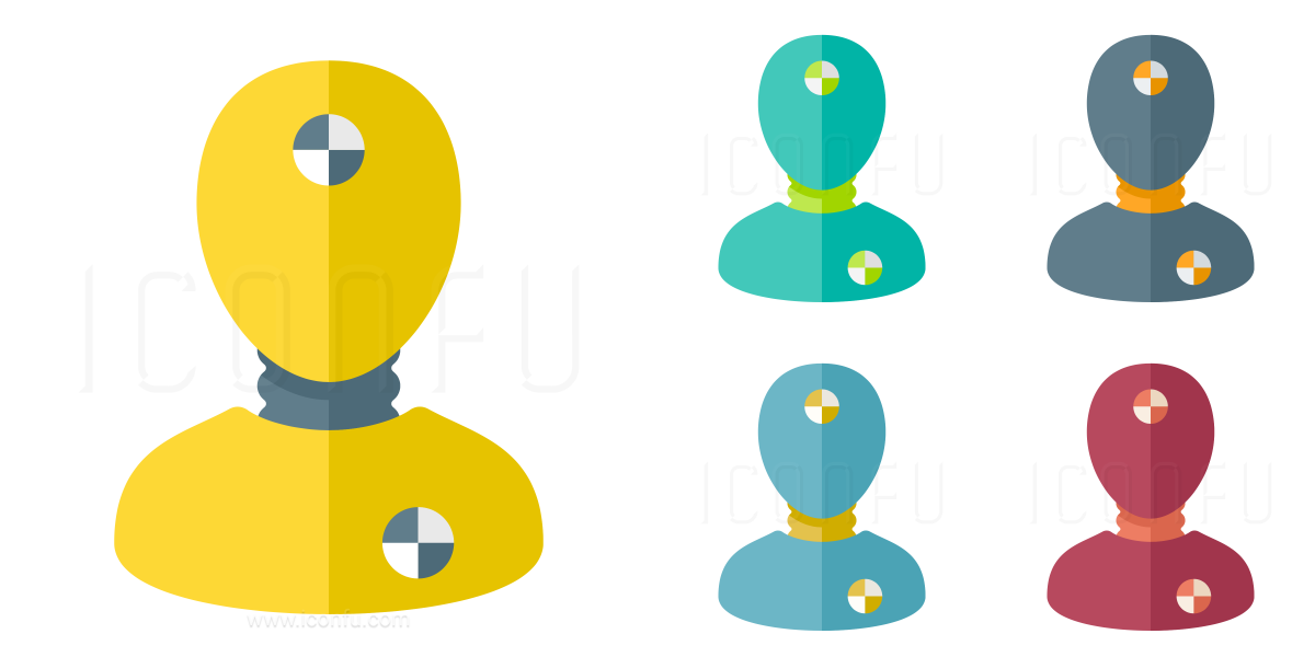 Crash Test Dummy Icon Paper Style Iconfu
