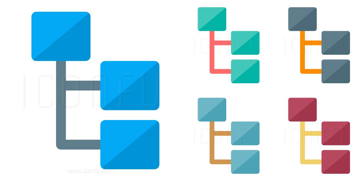 Elements Tree Icon Paper Style Iconfu