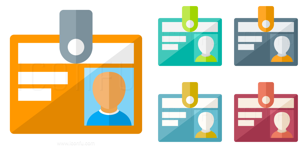 Id Badge Icon - Paper Style - Iconfu