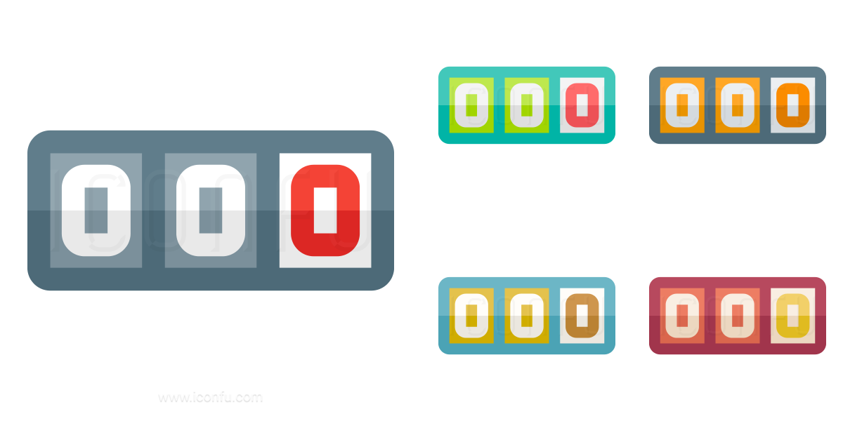 odometer icon paper style iconfu