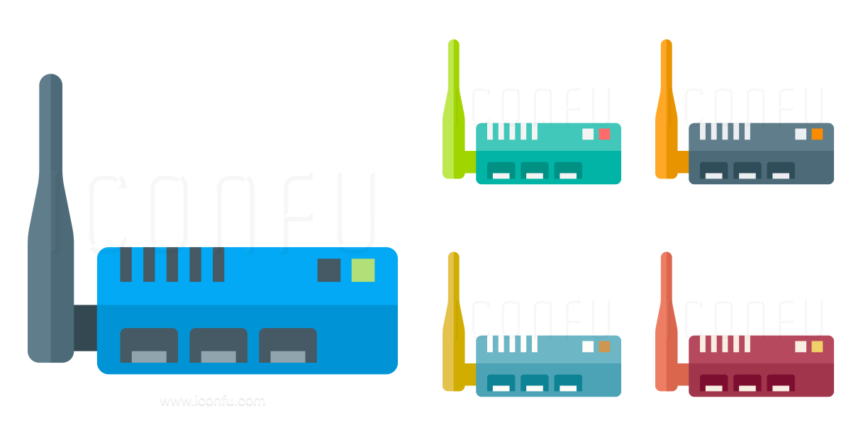 Wlan Router Icon - Paper Style - Iconfu