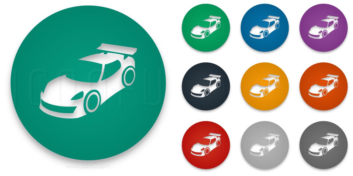 Car Sports Icon Circle Style Iconfu