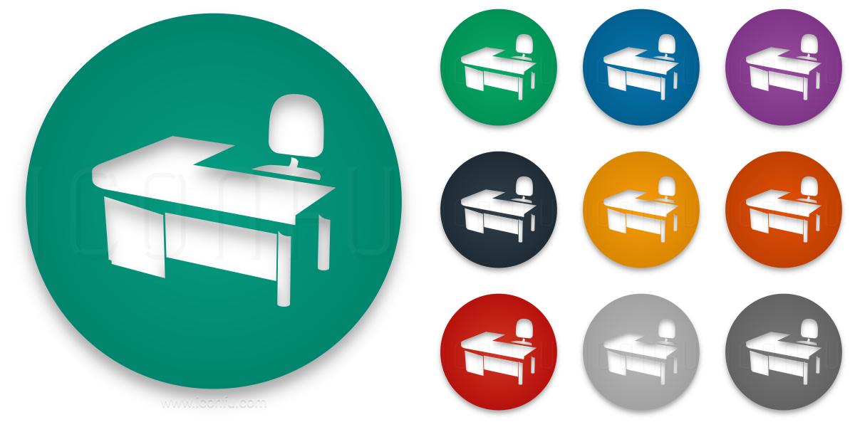 Desk Icon Circle Style Iconfu