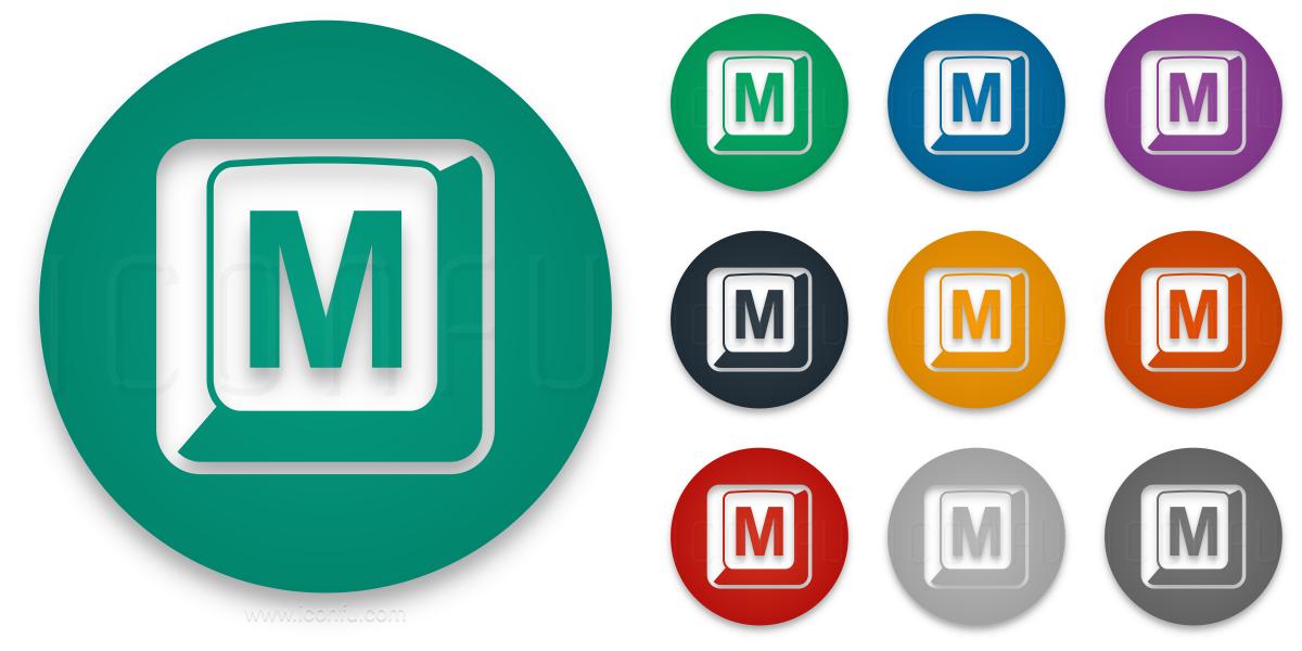 Keyboard Key M Icon