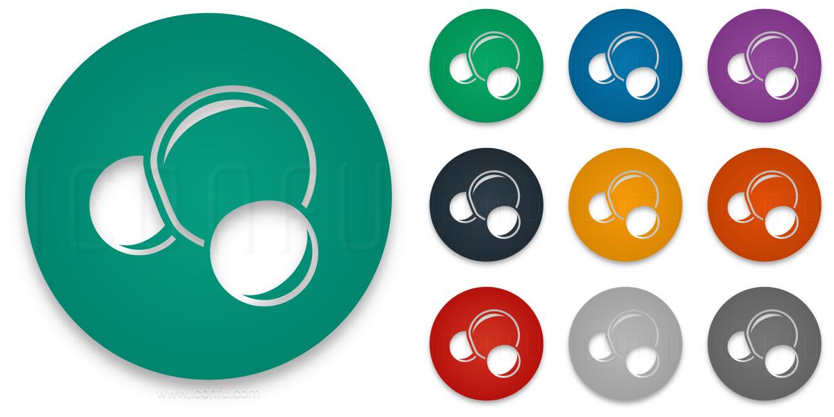 Molecule H2o Icon Circle Style Iconfu