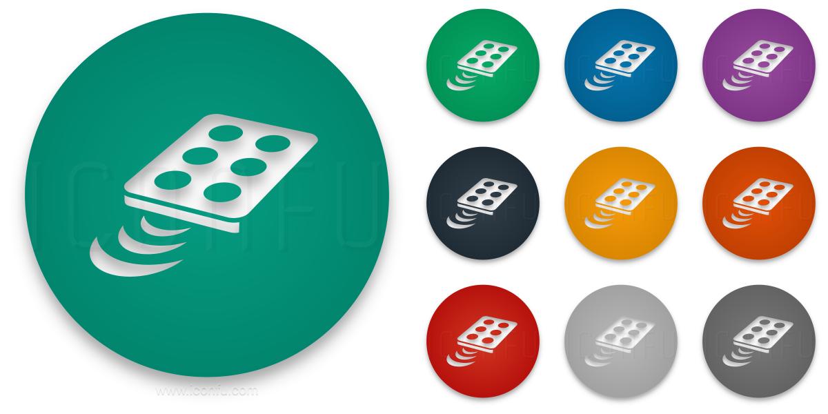 Remote Control Infrared Icon Circle Style Iconfu