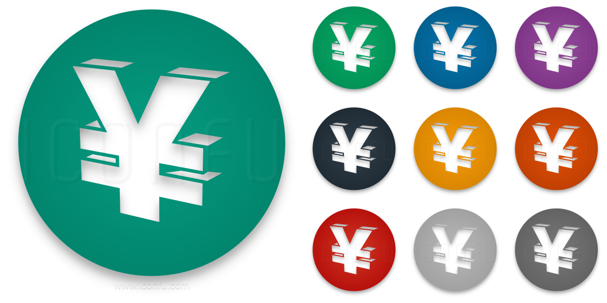 Symbol Yen Icon Circle Style Iconfu
