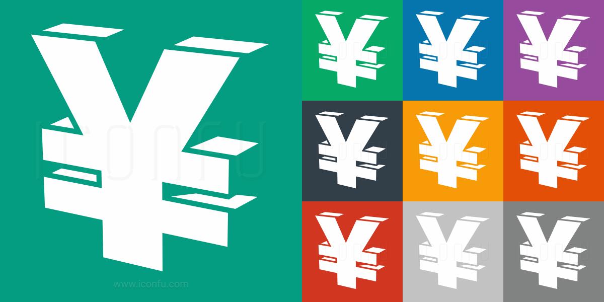 Symbol Yen Icon Mono Style Iconfu