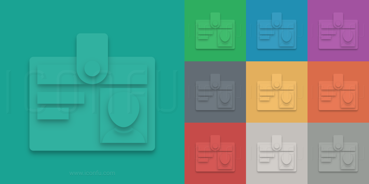 Id Badge Icon - Material Style - Iconfu