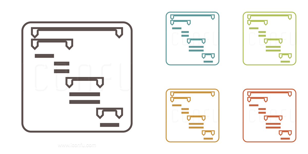 Chart Gantt Icon Outline Style Iconfu
