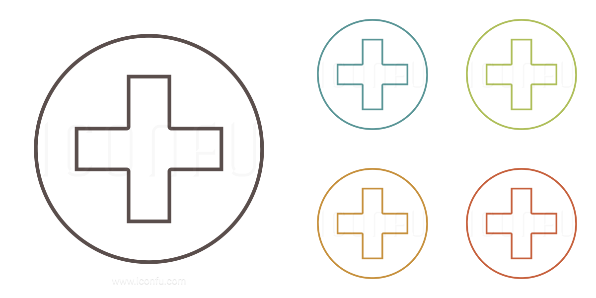 First Aid Icon - Outline Style - Iconfu