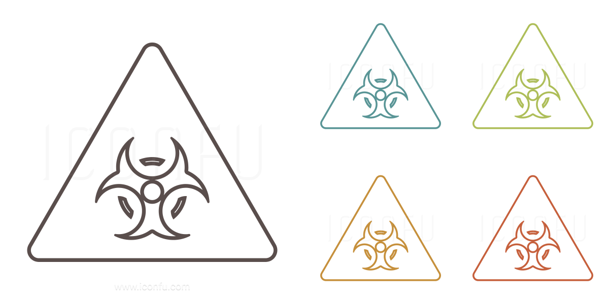 Sign Warning Biohazard Icon Outline Style Iconfu