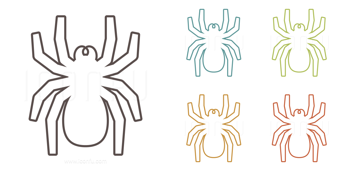 Spider Icon - Outline Style - Iconfu