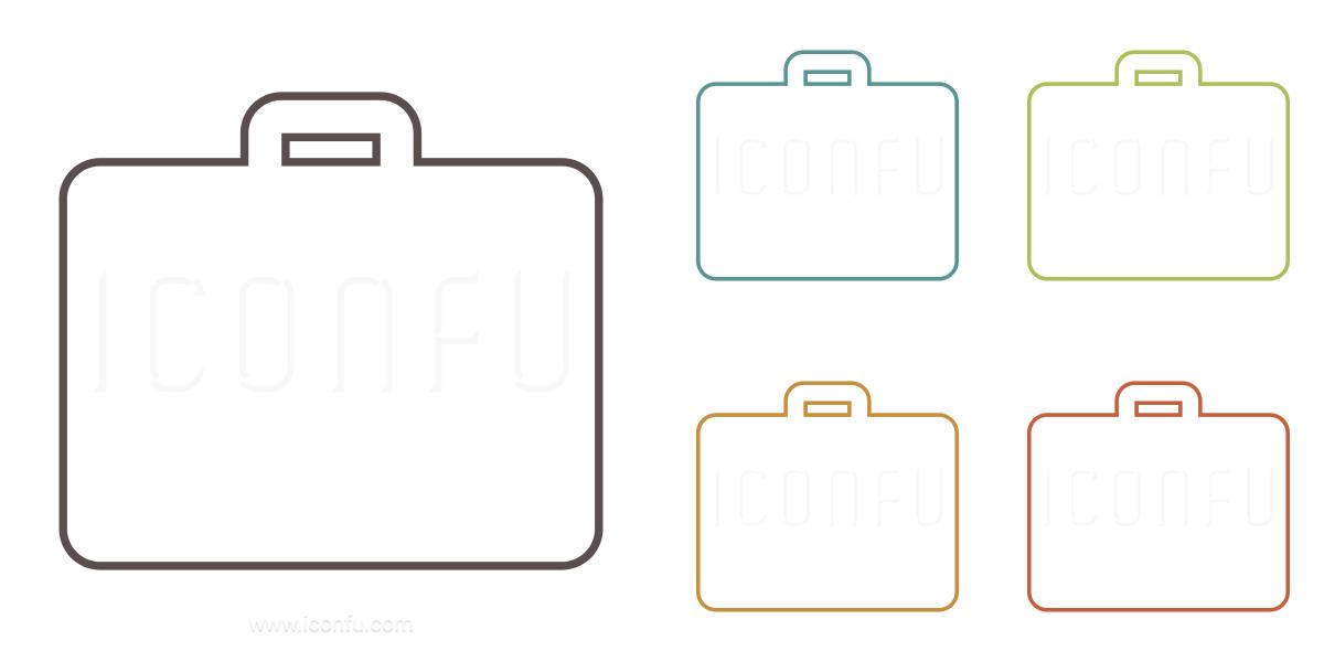 Suitcase Icon , Outline Style , Iconfu