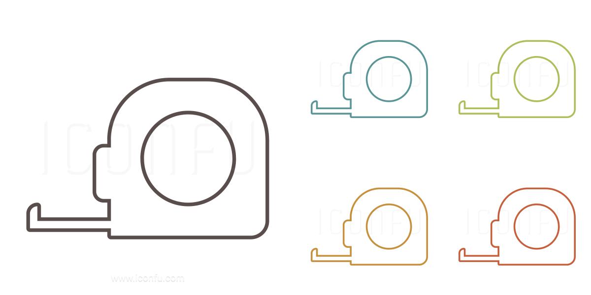 Astonishing Tape Measure Icon Outline Style Iconfu Wiring Digital Resources Remcakbiperorg