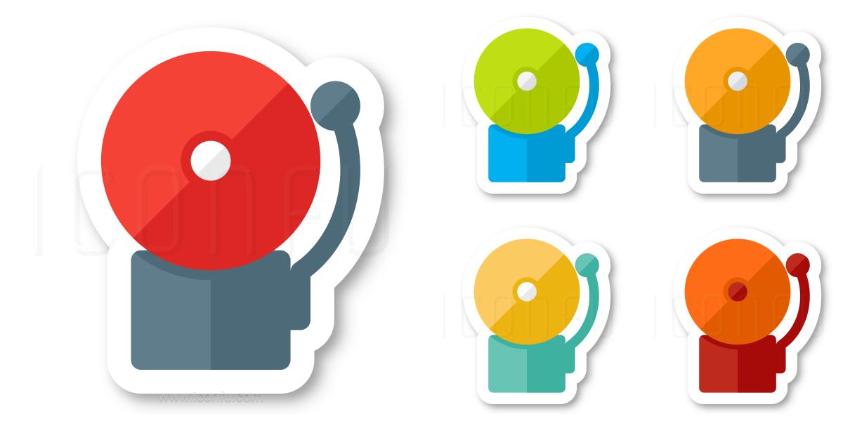 alarm icon keywords: alarm, alert, alarm bell, bell, security, fire  fighting, ringing, signal, notification