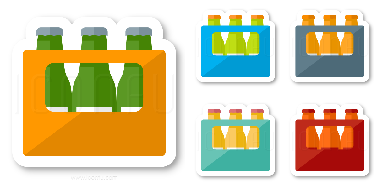 Bottle Crate Icon