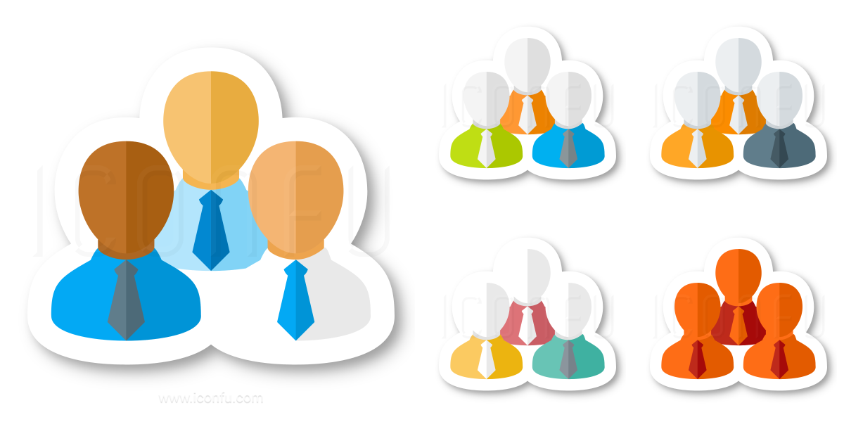 Businessmen Three Icon