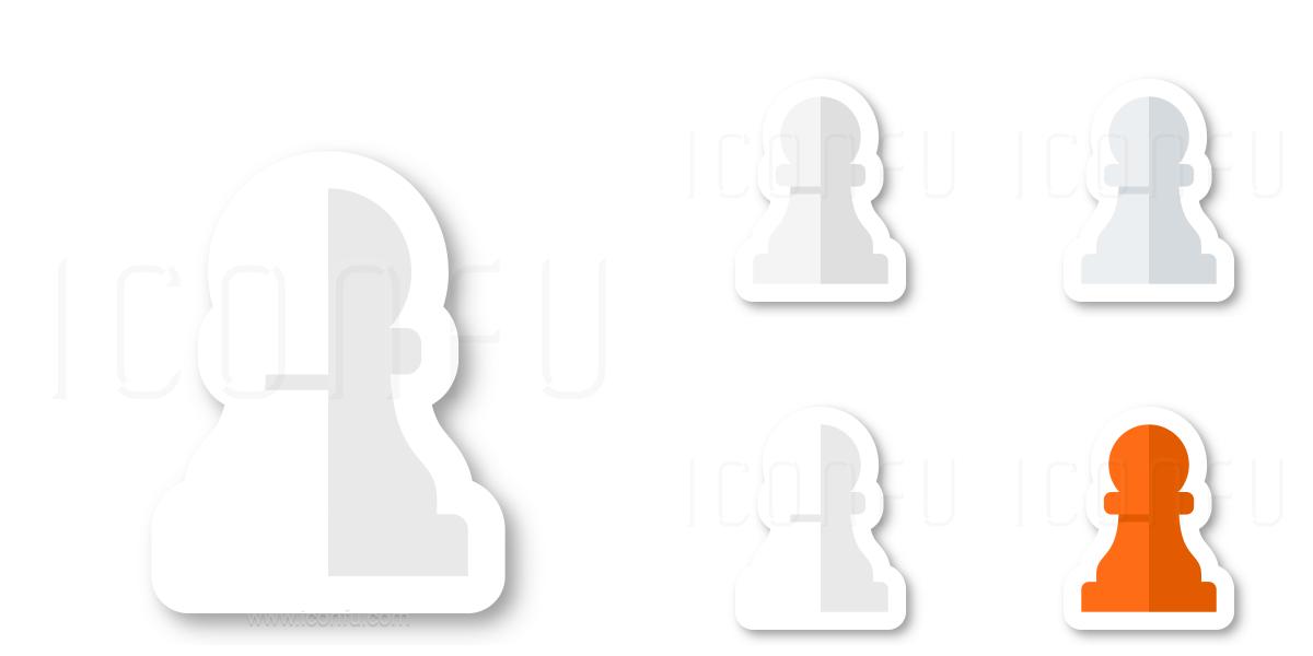Chess Piece Pawn White Icon
