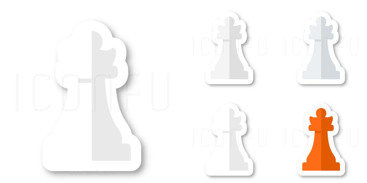 Chess Piece Queen White Icon