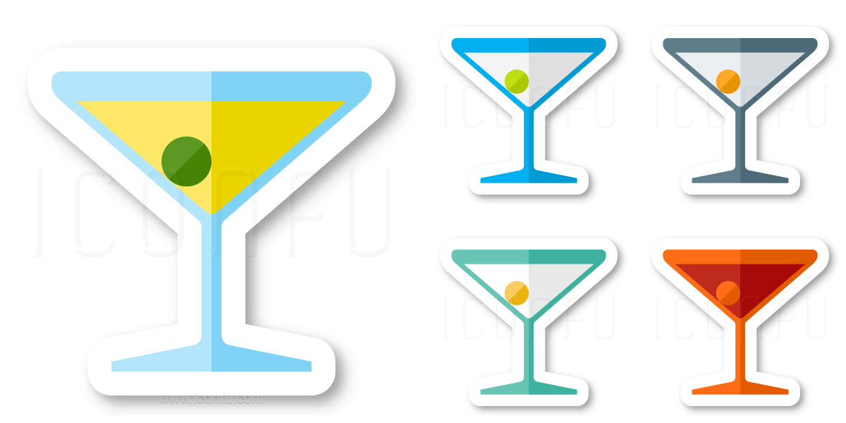 cocktail icon sticker style iconfu rh iconfu com Martini Glass Clip Art Vector Martini Glass Clip Art Vector