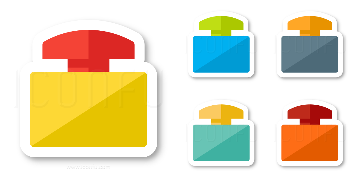 Emergency Stop Button Icon - Sticker Style - Iconfu
