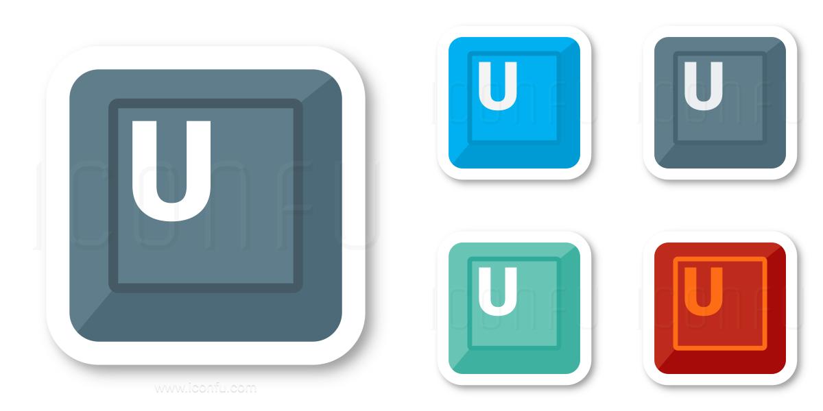 Keyboard Key U Icon