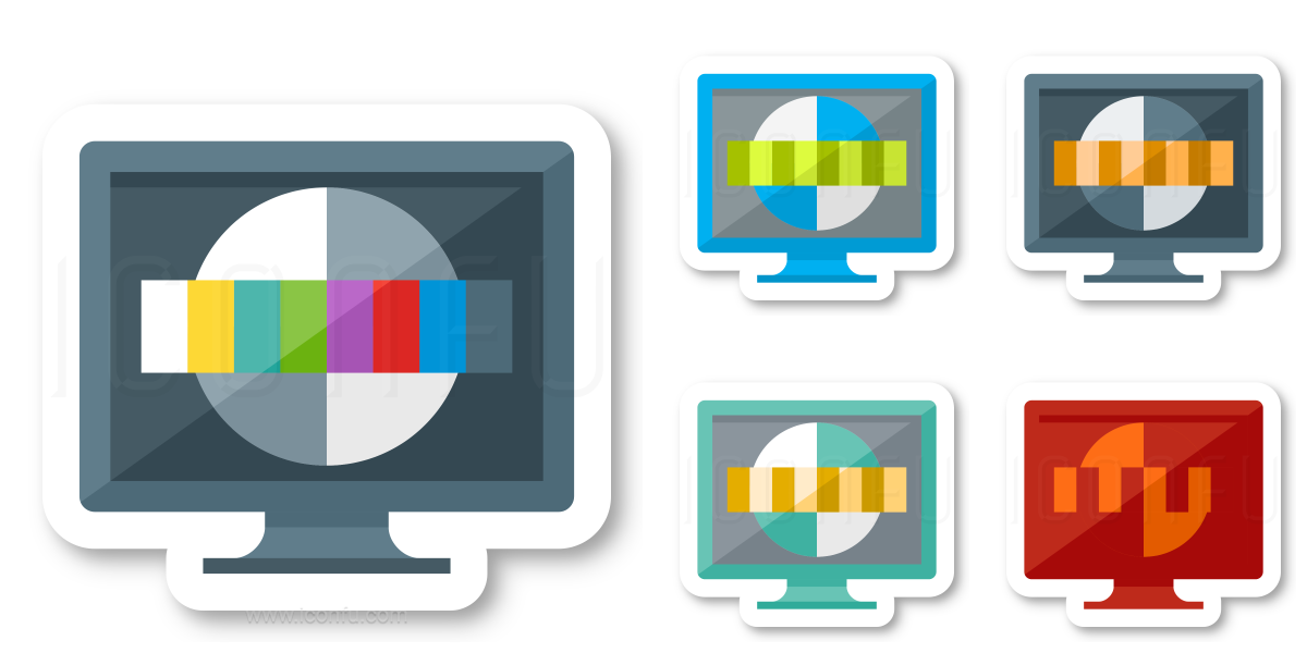 Monitor Test Card Icon