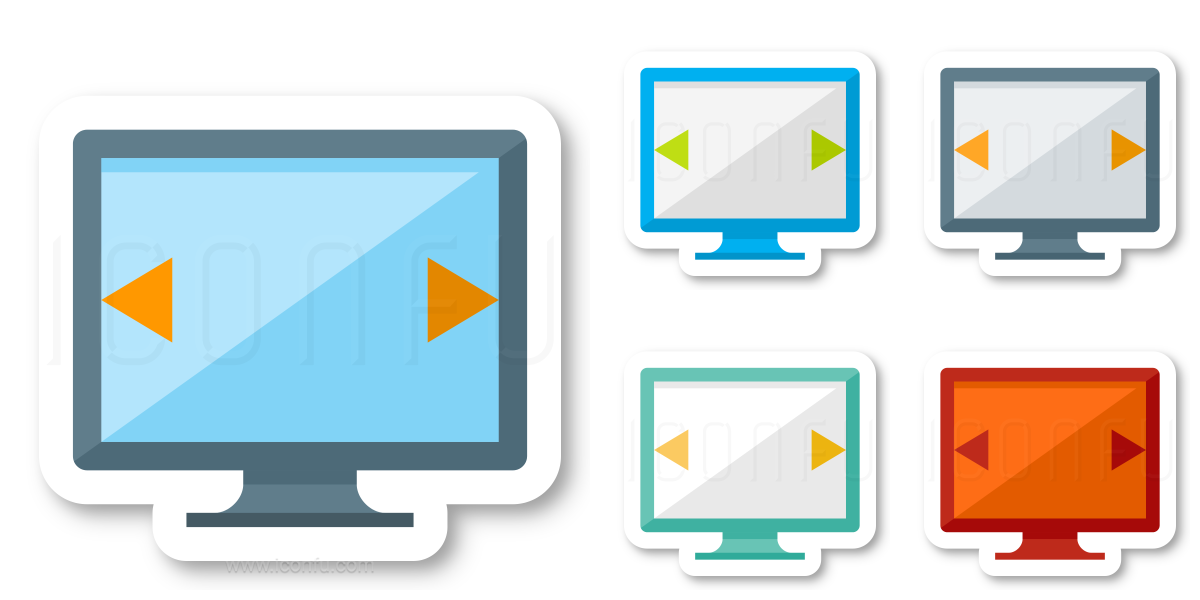 Monitor Width Icon
