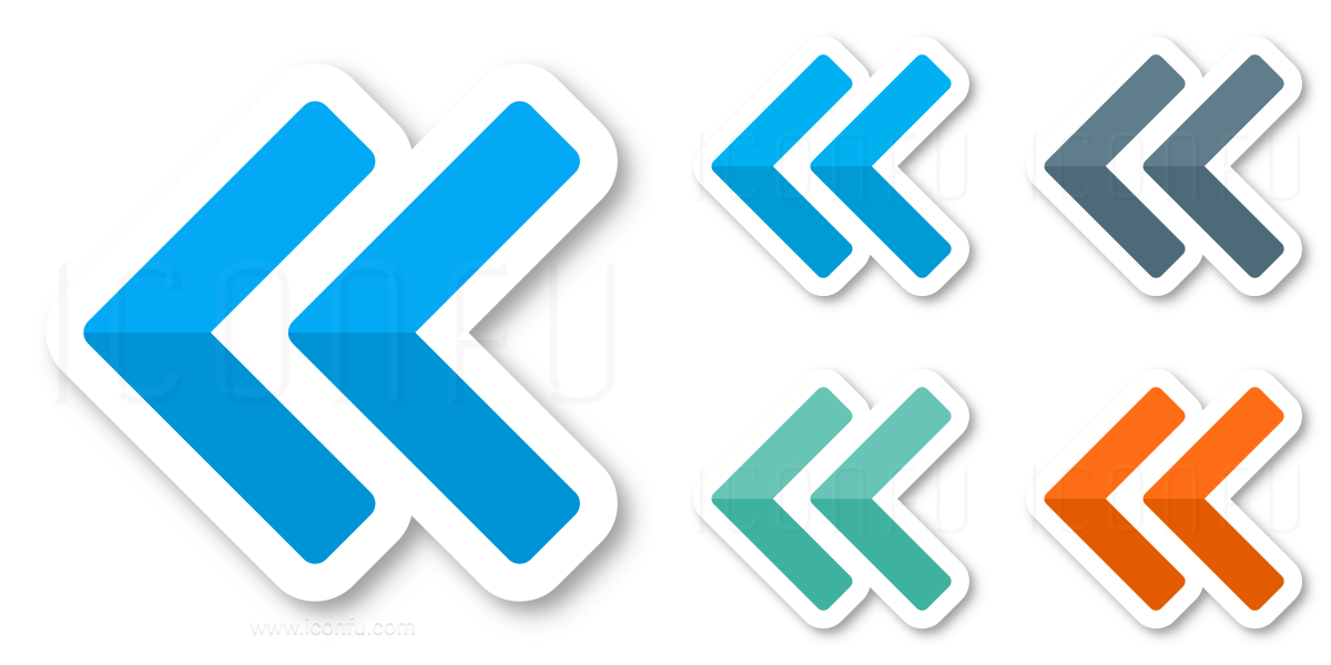 Navigate Left Two Icon
