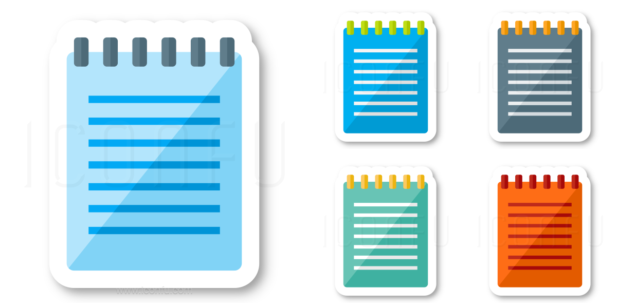 Notebook Icon - Sticker Style - Iconfu