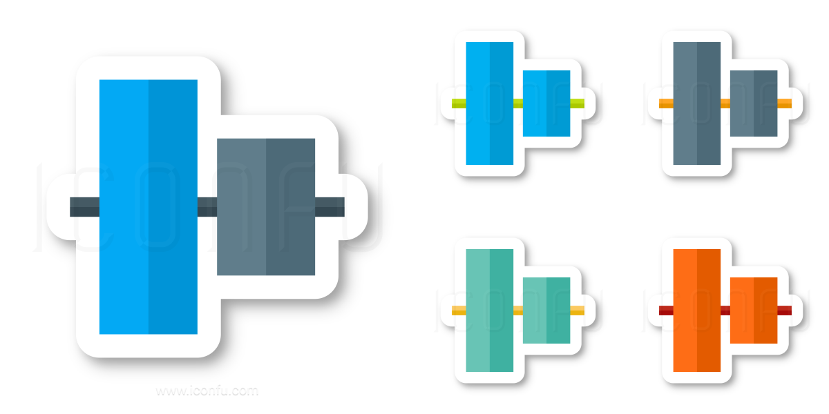 Object Alignment Vertical Icon