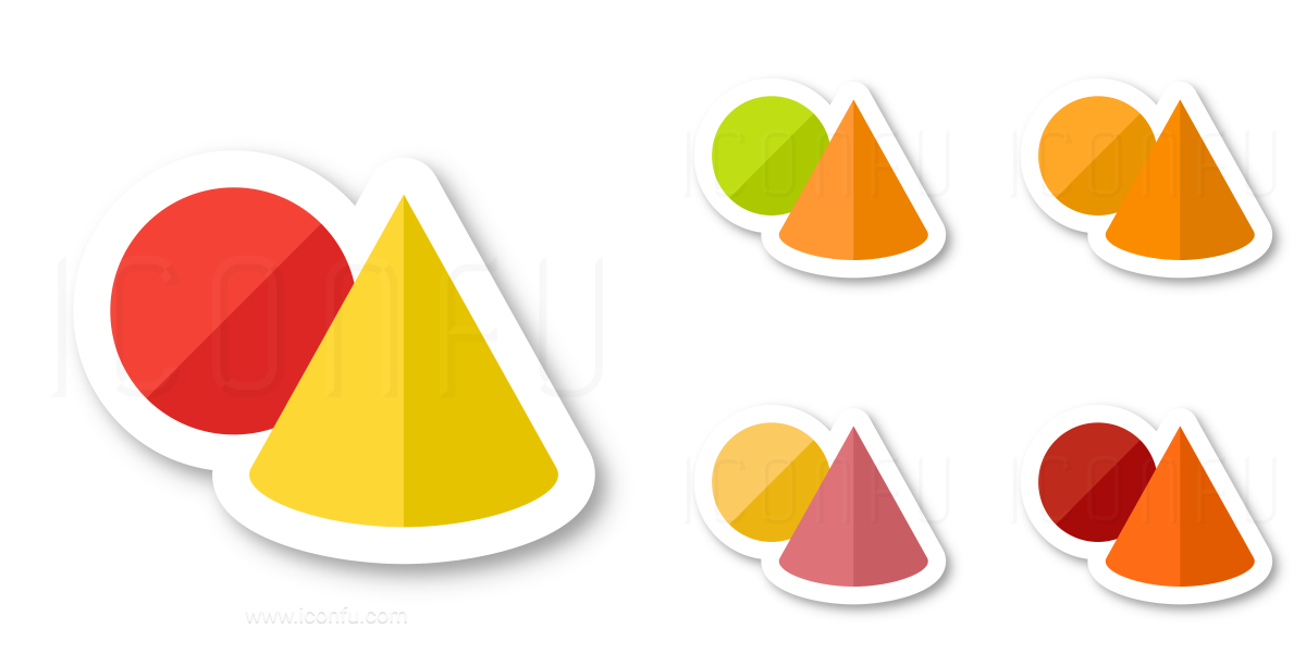 Objects Cone Ball Icon