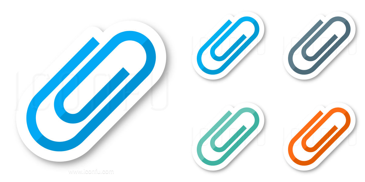 Paperclip Oval Icon