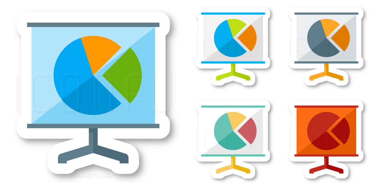 Presentation Pie Chart Icon