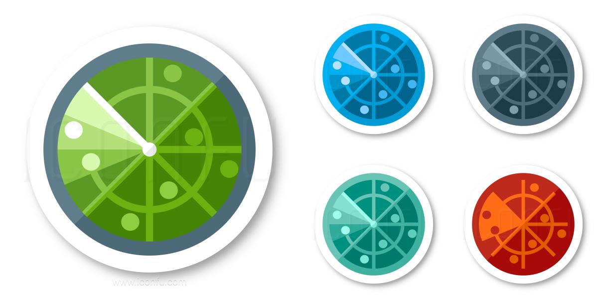 Radar Icon Sticker Style Iconfu