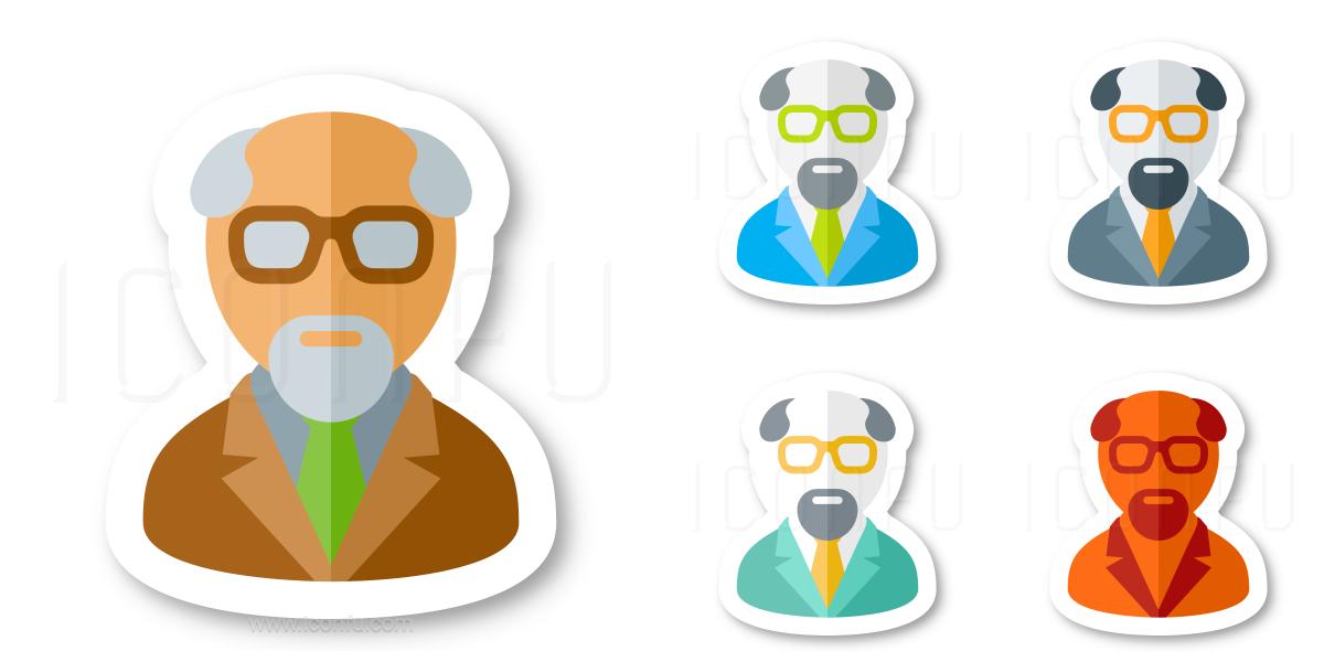 Senior Citizen Male Icon