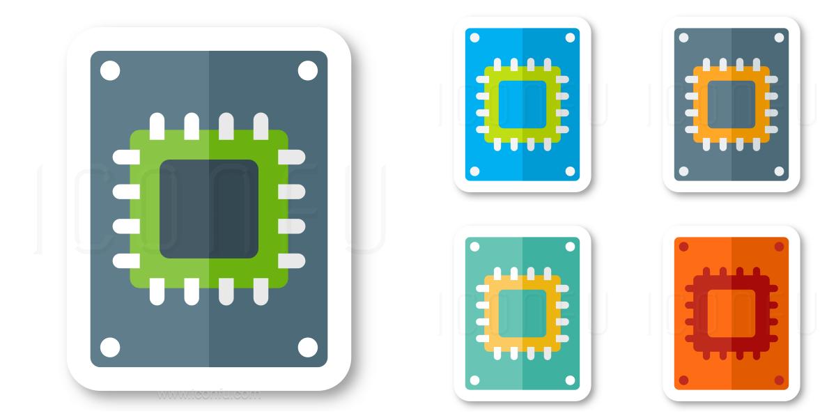 Ssd Drive Icon - Sticker Style - Iconfu
