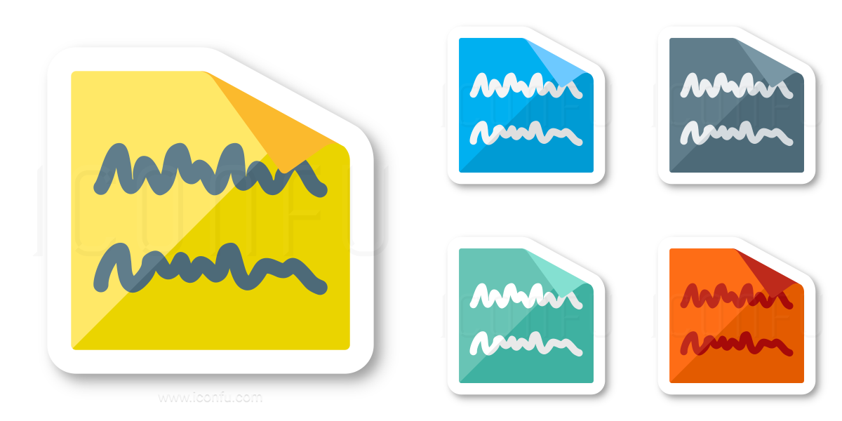Sticky Note Text Icon