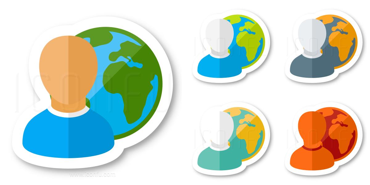 User Earth Icon