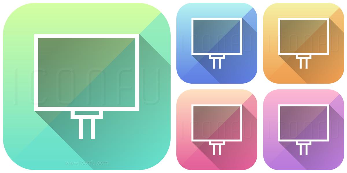 Billboard Empty Icon - App Style - Iconfu