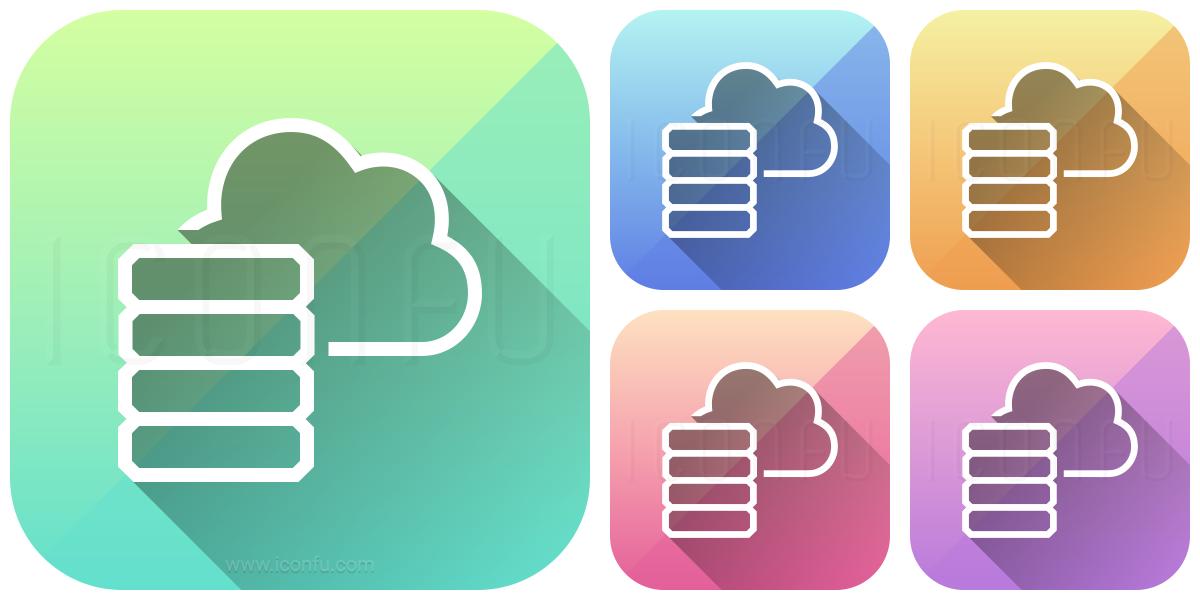 Data Cloud Icon - App Style - Iconfu