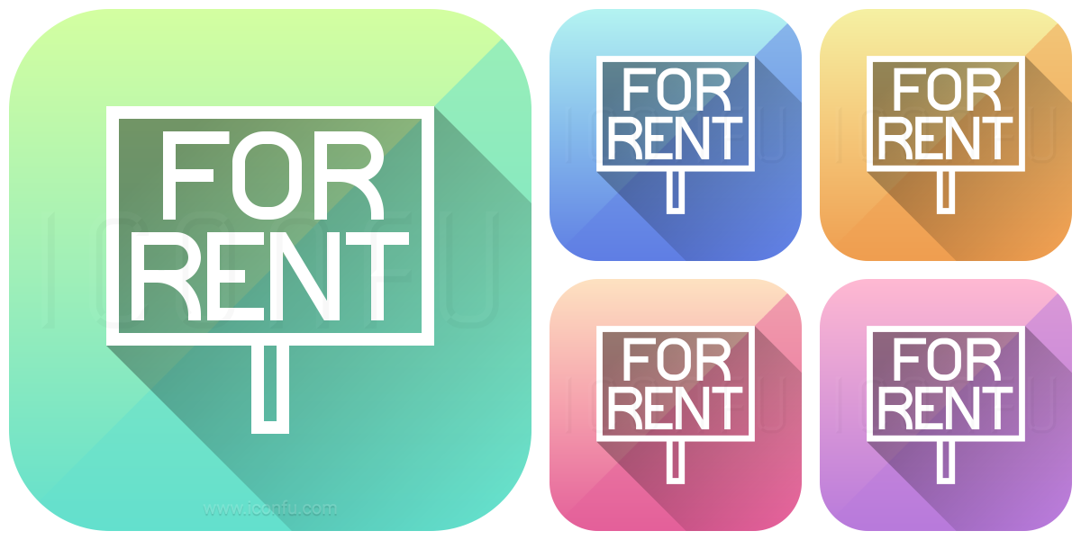 Signboard For Rent Icon. Line Icon Collection » App Icon Style