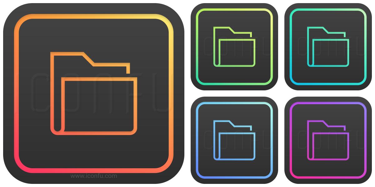 Folder Icon Glow Style Iconfu