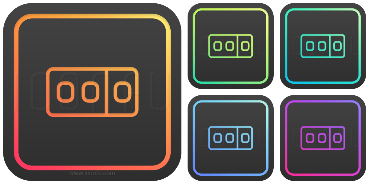 odometer icon glow style iconfu